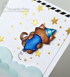 Sam's Scrap Candy: Cupcake Inspirations Challenge #400 Celebration! Newton's Birthday Bash stamp set by Newton's Nook Designs #newtonsnook