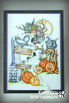 Art Impressions Rubber Stamps: Eerie Cheery Window by Karen Day