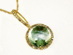 Ladies Diamond & Amethyst Necklace