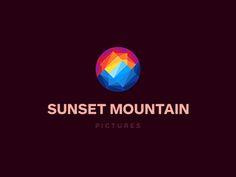 Dribbble - Sunset Mountain Logo Design by Dalius Stuoka