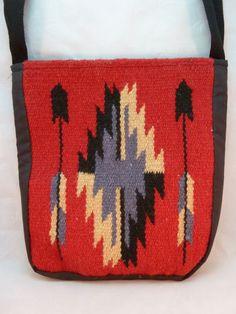 El Paso Saddleblanket Company Tote Book Bag Southwestern Western Native Wool #ElPasoSabbleblanketCompany #ToteBag