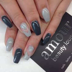 Gray coffin nails