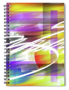 """This x spiral notebook features the artwork """"Creative flashes of a captive mind of reality"""" by Daniel Ghioldi on the cover and includes 120 lined pages for your notes and greatest thoughts. Spiral Notebook Covers, Spiral Notebooks, Notebooks For Sale, Lined Page, Orange, Yellow, Prison, Lightning, Routine"""