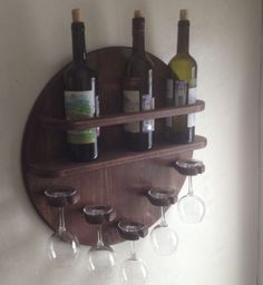 Captured with Lightshot Wood Wine Holder, Wood Wine Racks, Wine Rack Wall, Wine Barrel Crafts, Wine Rack Design, Palette Deco, Wine Barrel Furniture, Wine Glass Rack, Small Wood Projects