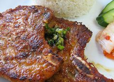 Thit Heo Nuong: Grilled lemon grass - five spice pork chops. A Vietnamese favourite. A great addition to any home BBQ this summer. Ingredients 1. 2 tablespoons vegetable oil 2. 1/4 cup honey 3. 1/4 cup Asian fish sauce 4. 4 garlic ...
