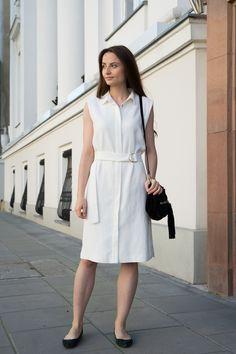 Simple dress #white #linen