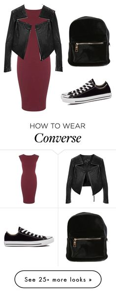 """""""New # 2.40"""" by camila-ilinova on Polyvore featuring Miss Selfridge, Converse and Linea Pelle"""