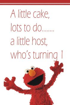 "Elmo Birthday Party Ideas- ""A little hostess who's turning for Rora Elmo Birthday, First Birthday Parties, Girl Birthday, First Birthdays, Birthday Ideas, Sesame Street Party, Sesame Street Birthday, Elmo Party, Construction Party"