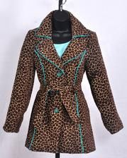 3 Sisters Clothing 3S185-Coco $187  Most beautiful cheetah and teal coat there is! Teal crystal buttons! On sale until Sun. Oct. 21st