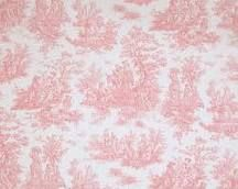 pink toile.........I want a little girl so I can put up this kind of wallpaper in her bedroom.  Sarah Lee Yellow or baby blue would also be lovely!