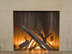 India Art n Design Global Hop : Bonfire - Contemporary Style Fireplace Box, Fireplace Mantels, Rustic Fireplaces, Steel Garden Edging, Bd Design, Fire Pit Designs, India Art, Facade House, House Facades