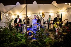 The band at Polly and Payden's wedding. | Polly and Payden's wedding at Polly's family home in Tazewell, VA. | Photography by Waldorf Photographic Art | Coordinated by Joy and Company| #WaldorfPhotographicArt #WeddingPhotography #SouthernWedding #FallWedding #WeddingInspiration