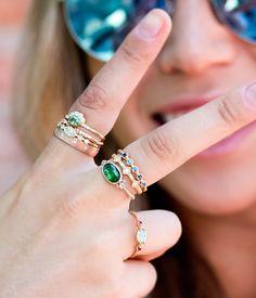 18k Bezel Sapphire Ring - Audry Rose