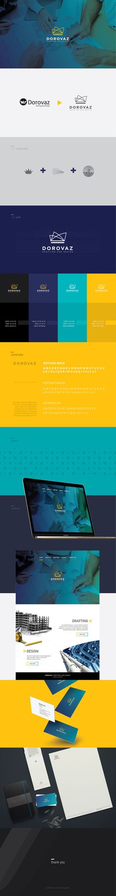 Branding and visual identity for Dorovaz Drafting and Design | Engineering company in Sidney