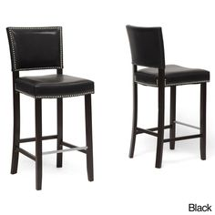 Baxton Stuido 'Aries' Modern Bar Stools with Nailhead Trim (Set of 2)   Overstock.com Shopping - The Best Deals on Bar Stools - $276 for 2 chairs
