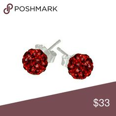 COMING SOON! Swarovski Red Fireball Stud Earrings Gorgeous and perfect for Valentine's Day. 6mm diameter. Sparkly and fiery! Sterling silver. Swarovski Jewelry Earrings