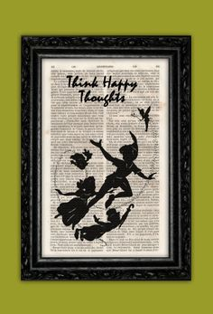 Peter Pan Tinkerbell and Kids Silhouette Art by ThePurpleHamster, €7.00