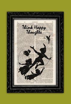 Peter Pan Tinkerbell and Kids Silhouette Art by ThePurpleHamster, €7.00