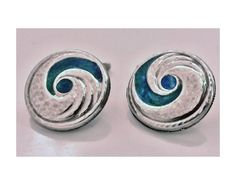 View this item and discover similar for sale at - Pair Liberty & Co Archibald Knox designed Enamel Cufflinks, Birmingham The circular slightly concave cufflinks with swirl hammered silver and Hammered Silver, Silver Enamel, Cymric, Archibald Knox, Antique Cufflinks, Art Nouveau Jewelry, Jewellery Making, Archie, Nice Things