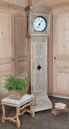 Antique Normandie Long Case Clock | Antique Grandfather Clocks | Inessa Stewart's Antiques