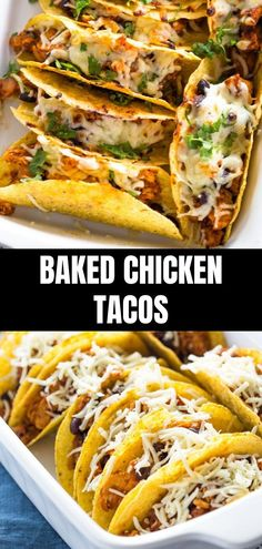 Oven Baked Chicken Tacos using leftover roast chicken and ready in less than 30 minutes! These are almost 'no mess' tacos! Oven Baked Chicken Tacos using leftover roast chicken and ready in less than 30 minutes! These are almost 'no mess' tacos! Grilled Chicken Tacos, Chicken Taco Recipes, Leftover Chicken Recipes, Oven Baked Chicken, Leftovers Recipes, Mexican Food Recipes, Dinner Recipes, Leftover Roast Chicken, Oven Baked Tacos