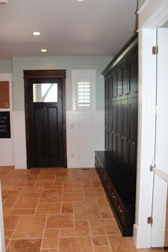 Plenty of space in this mudroom.