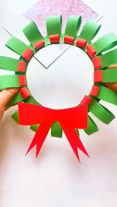 Christmas Cards Handmade Kids, Christmas Arts And Crafts, Christmas Activities For Kids, Diy Arts And Crafts, Holiday Crafts, Christmas Diy, Paper Crafts, Diy Snowflake Decorations, Origami