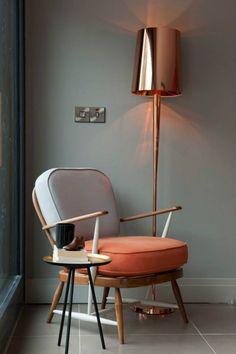 Copper standing lamp