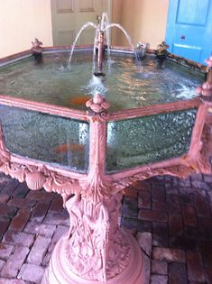 antique aquarium Fish Tank at San Francisco Plantation, Garyville LA