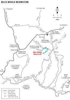 Coconino national forest mogollon rim campgrounds arizona forest blue ridge lake or reservoir arizona forest service map coconino national forest mogollon publicscrutiny Gallery