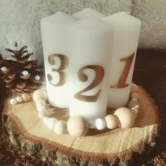 Holz Natur-Adventkranz