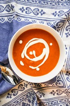Cream free Tomato Soup with Cumin Seeds and Red Pepper Chili Flakes ...