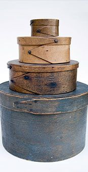 Antique Pantry Boxes with Finger Jointed Construction and Great Old Surfaces