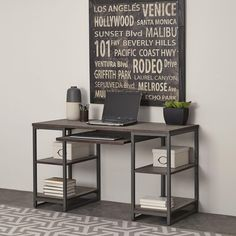 The Barnside Metro Pedestal Desk by Home Styles exhibits an alluring industrialized design that displays mixed media materials. The look is achieved by employing a wire brush technique with a driftwood finish. Office Furniture Stores, Furniture Deals, Furniture Outlet, Online Furniture, Diy Furniture, Furniture Design, Furniture Hardware, Furniture Companies, Desk With Keyboard Tray