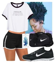 """""""Time Ain't With Me."""" by queenboldon on Polyvore featuring H&M and NIKE"""