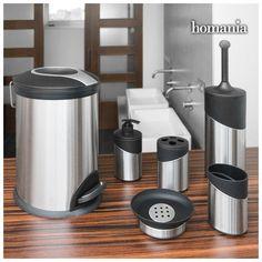 Accesorios de Baño Inox Homania (6 piezas) Bad Accessoires Set, Vanity Set, Bad Set, Plastic Bins, Soap Dispenser, Bathroom Accessories, Perfect Fit, Kitchen Appliances, Design