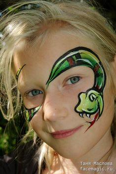 Snake. Face paint by Tanya Maslova.