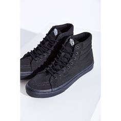 Vans Sk8-Hi Slim Sneaker ($30) ❤ liked on Polyvore featuring shoes, sneakers, vans, black high tops, high top sneakers, vans trainers, vans shoes and grip trainer