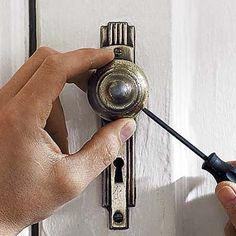How to strip paint off of old door hardware