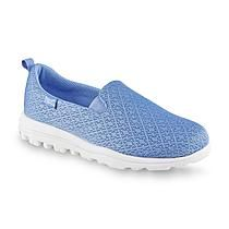 Walking that extra mile or two is no problem when wearing your women's Lindsay 3 <strong>walking shoes by Everlast Sport</strong>. These lightweight athletic shoes feature easy slip-on styling with elasticized gores, offering a personalized fit. The microfiber upper with a space-dyed design has a mesh fabric lining for breathability. With a cushioned insole and flexible, supportive treaded sole, every step will be a pleasure.