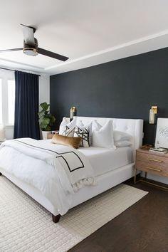 Purple Master Bedroom, Basement Master Bedroom, White Bedroom Design, Modern Master Bedroom, Farmhouse Master Bedroom, Master Bedroom Makeover, Master Bedroom Interior, Master Bedrooms, Sophisticated Bedroom