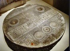 This is considered an offering table, but on closer inspection it's machined to perfection and includes hieroglyphs and other information. To date, no electromagnetic test or scans have been done on this piece which comes from (or was thought to be from) 2350 BC, 5th Dynasty (Old Kingdom) Egypt.