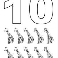 Desenho De Numero 10 Com Figuras Para Colorir Com Imagens