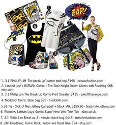 """Comic-Con 2012 Comic Inspired Fashion"" by fabulousfashionzanddesignz on Polyvore"