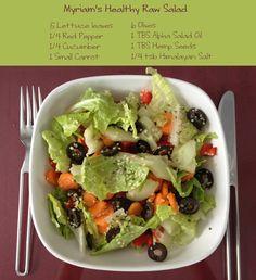 Myriam's Healthy Raw Salad Recipe!