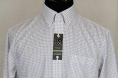 Jos. A. Bank Travelers Mens LS Tailor Fit Dress Shirt Sz 16.5 White Check #JosABank