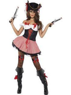Fever Pirate Babe Costume - Pirate Female Fancy Dress