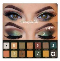 Eye Makeup Steps, Makeup Eye Looks, Eye Makeup Art, Makeup Inspo, Skin Makeup, Eyeshadow Makeup, Makeup Inspiration, Makeup Brushes, Dead Makeup