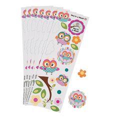 Owl Birthday Stickers - OrientalTrading.com