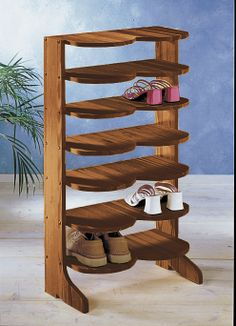 Schuhregal | Shoe rack or any kind of wooden shoe rack. Preferably narrow and tall or shelves I can nail on the wall :)